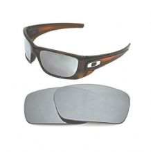 NEW POLARIZED CUSTOM SILVER ICE LENS FOR OAKLEY FUEL CELL SUNGLASSES